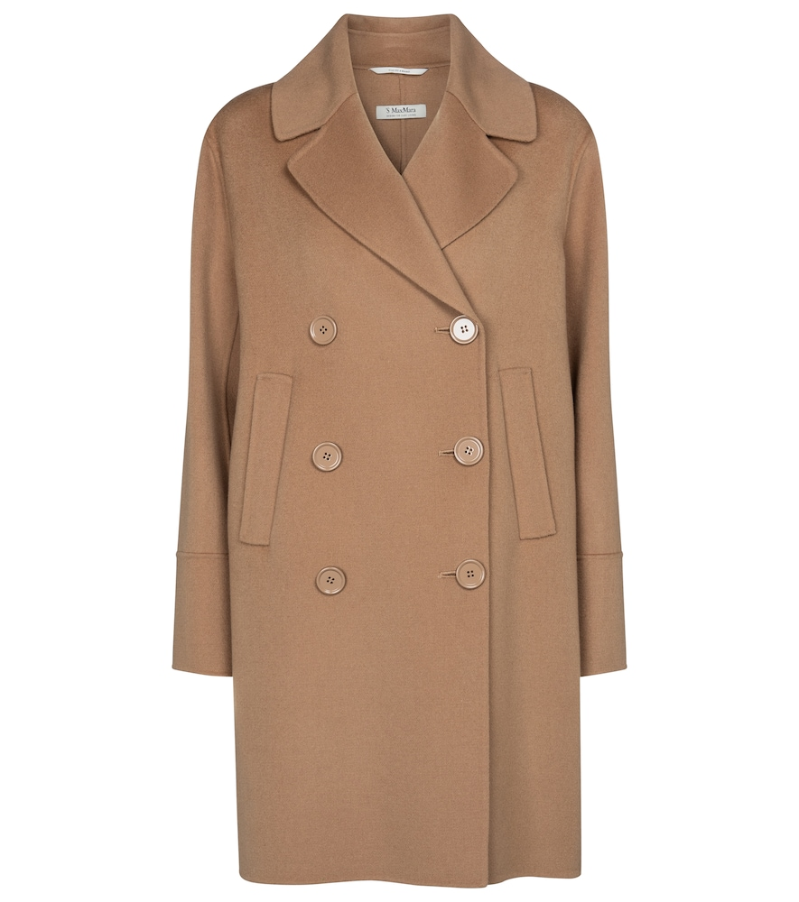 Titania double-breasted wool coat
