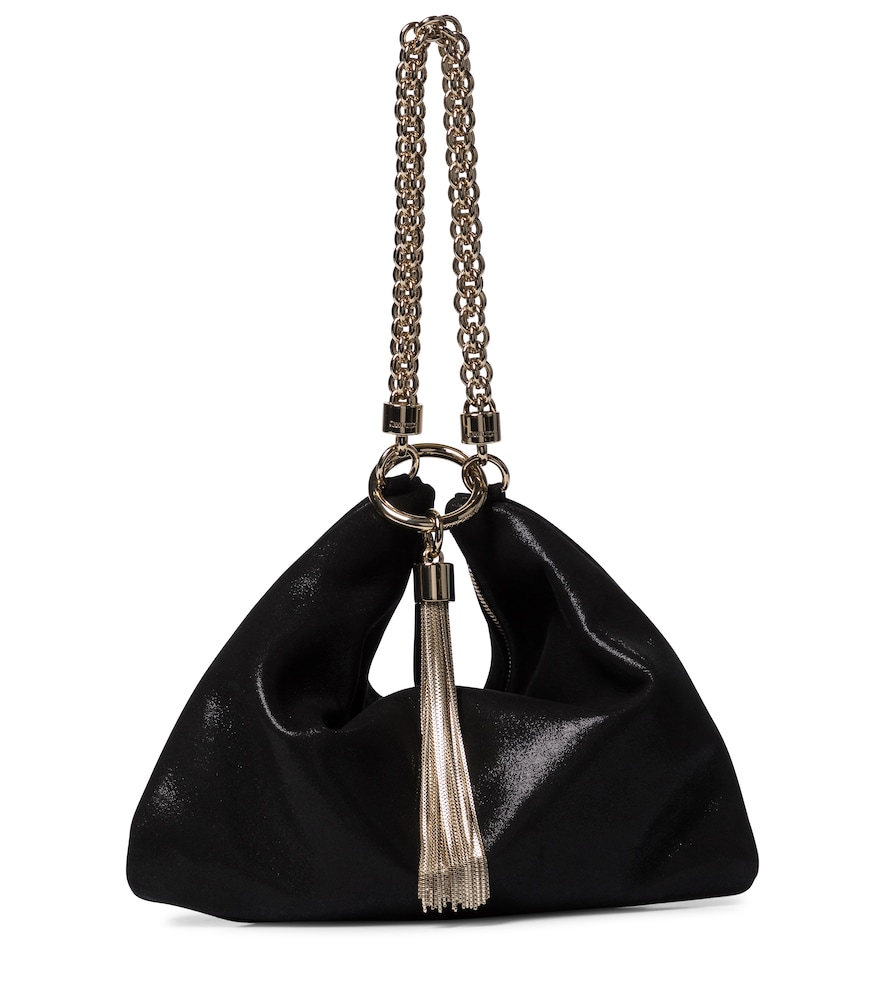 Callie Shimmer suede tote