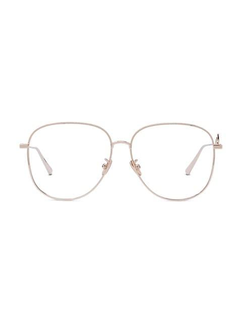 DiorSignature 57MM Aviator Optical Glasses