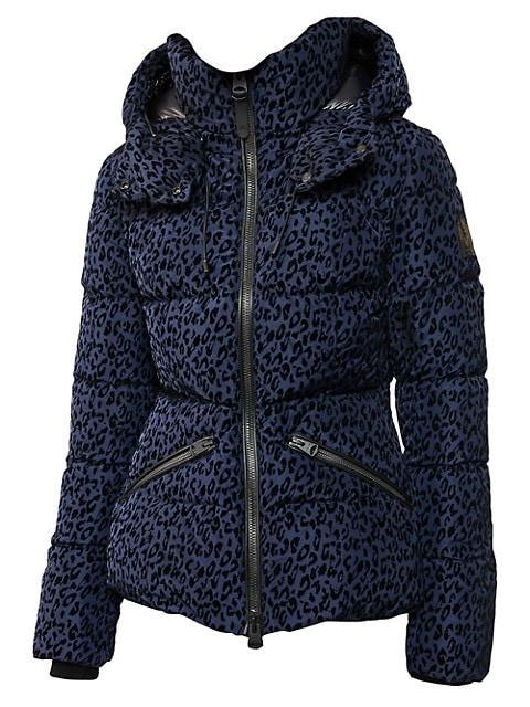 Madalyn Leopard-Print Down Puffer Coat