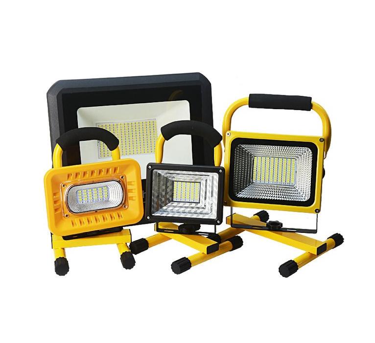 平價屋-250w戶外超長續航led投射燈投光燈手提充電式探照燈