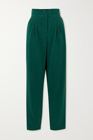 Àcheval Pampa - Gato 褶裥梭织窄腿裤 - 绿色 - large