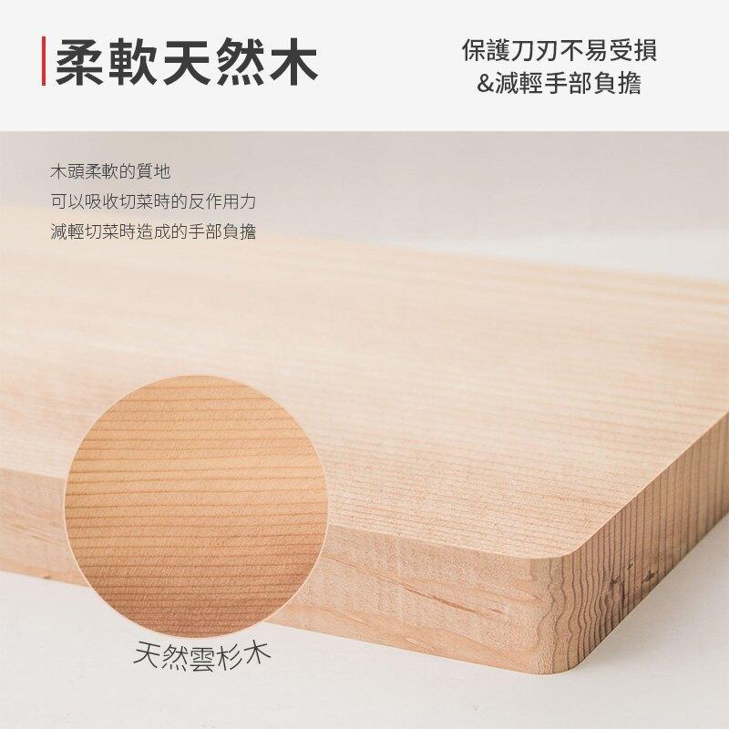 【日本MEIJIYA】寬型天然木砧板24cm