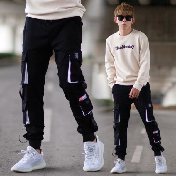 【NB0934J】立體多口袋大彈力休閒褲工裝褲縮口褲 (UC6629)