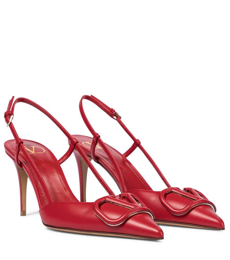 Valentino Garavani VLOGO slingback leather pumps