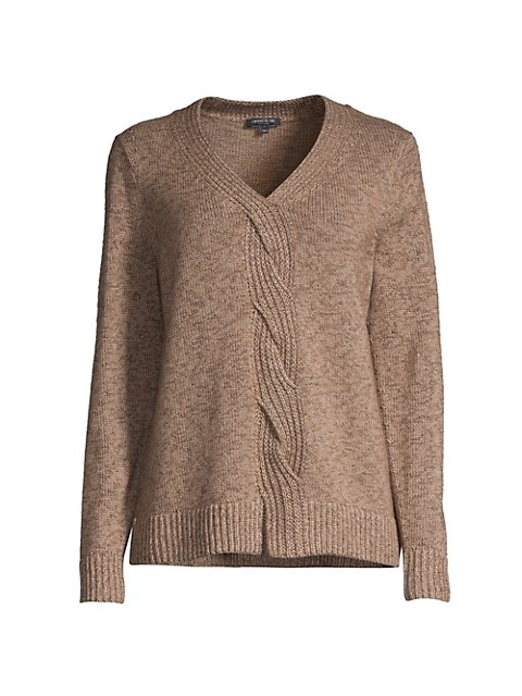 Front Braided Cable Sweater