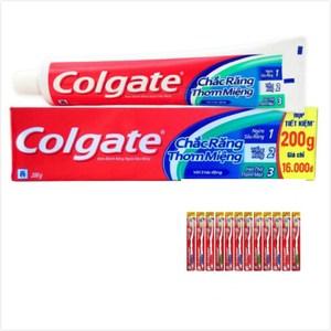 【Colgate 】三效合一牙膏(200g)*6+鑽石牙刷*12