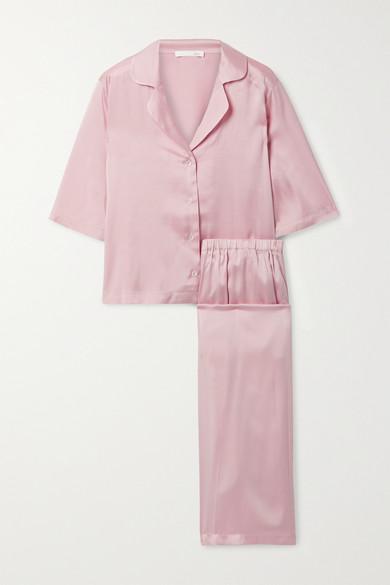 Skin - Tay 弹力丝缎睡衣套装 - 淡粉色 - 0