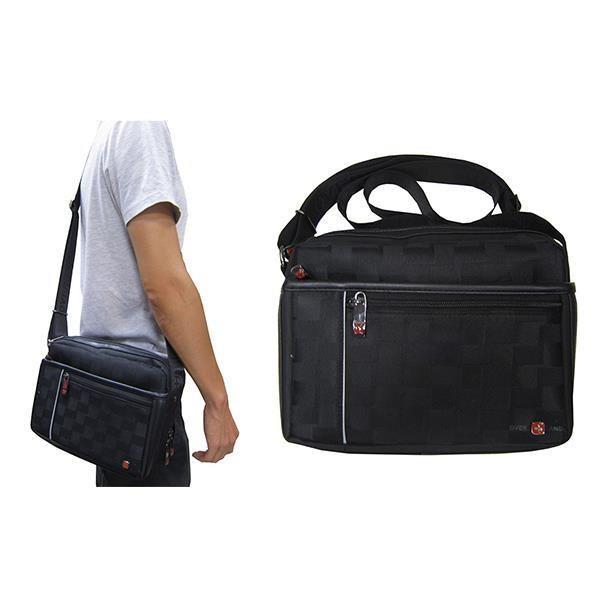 ~雪黛屋~OVER-LAND 肩側包中容量二層主袋+外袋共五層防水尼龍布+皮革