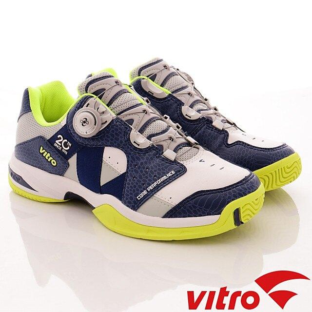 Vitro韓國運動品牌頂級專業網球鞋RANKERS2.0BOA-NAVY/LIME(男段)