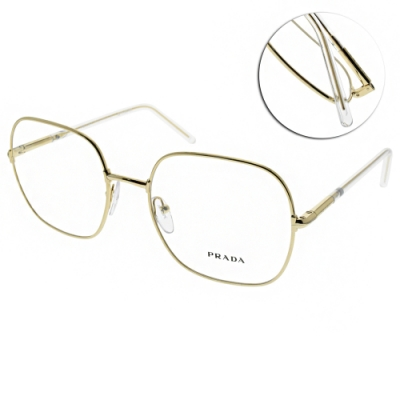 PRADA光學眼鏡 設計方框款/槍 #PR56WV 5AK-1O1