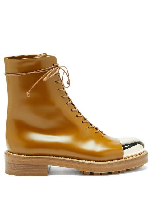 Gabriela Hearst - Riccardo Toe-cap Leather Boots - Womens - Tan Gold
