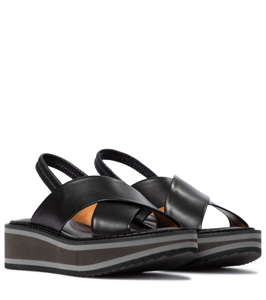 Freedom leather platform sandals