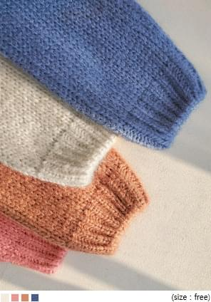 韓國空運 - 麻花紋V領素色針織外套 開襟衫