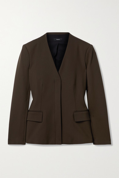 Theory - 弹力平纹布西装外套 - 深绿色 - US4