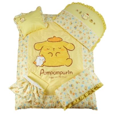 【麗嬰房】三麗鷗 Pompompurin(布丁狗) 布丁派對系列 寢具七件組
