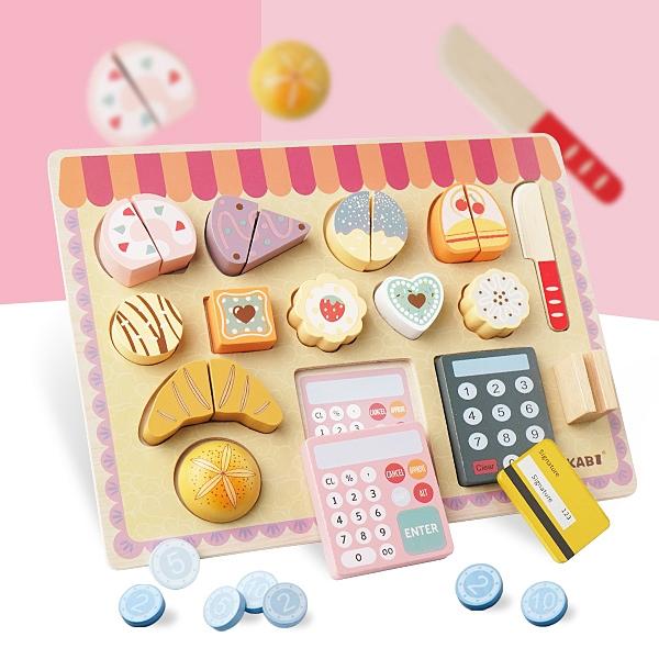甜點下午茶木製切切樂扮家家酒 兒童玩具 扮家家酒遊戲組 仿真食物玩具
