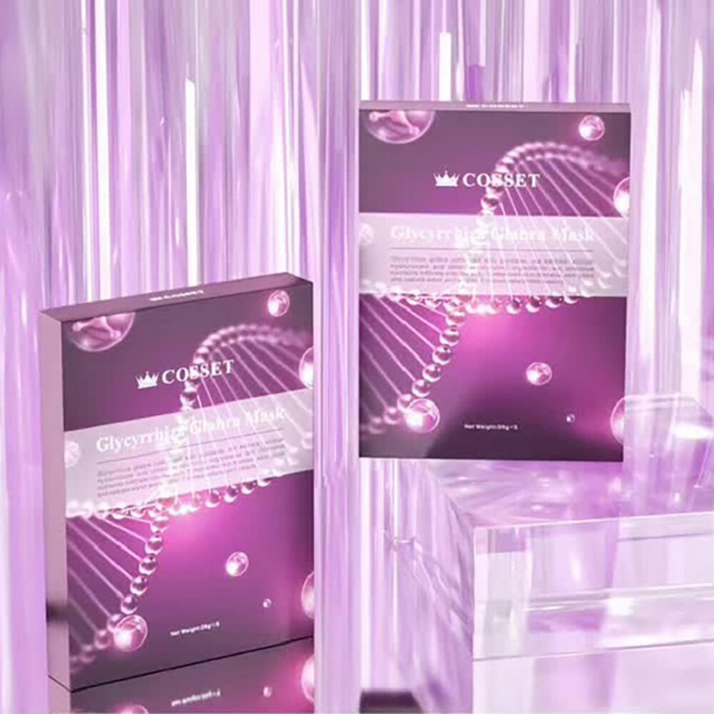 《蔻妍 COSSET》英國進口 夏日抗曬必備 3D立體貼合設計 光果甘草亮白面膜(5入/盒)