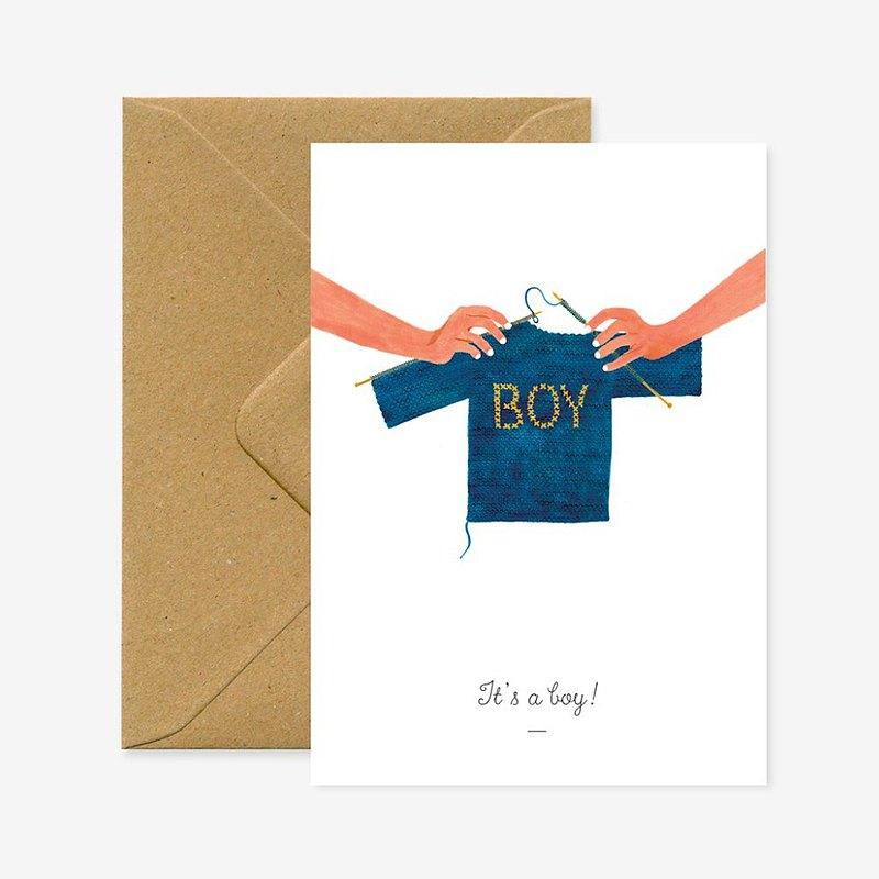 是個男孩新生卡片