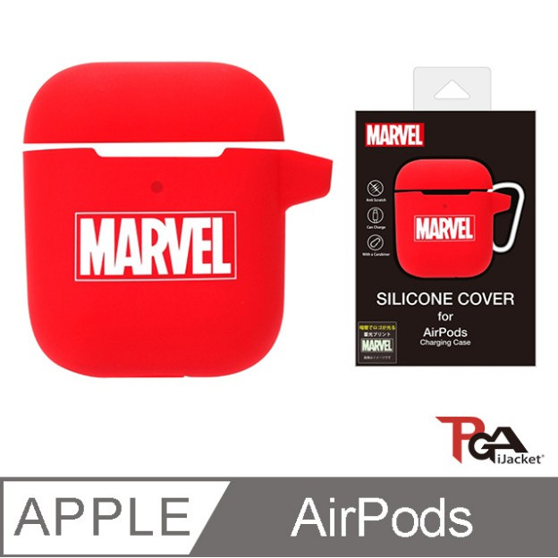 PGA-Marvel 漫威英雄 AirPods 防撞擊 夜光 矽膠保護套-Marvel
