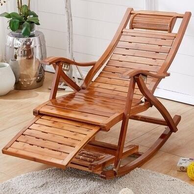 竹搖搖椅家用陽台搖椅躺椅成人大人午睡懶人休閒藤編老人逍遙椅子