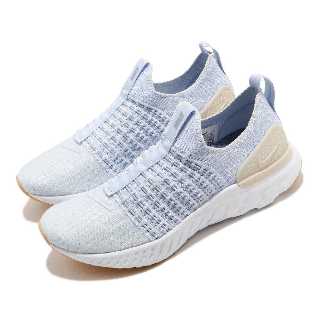NIKE 慢跑鞋 React Phantom Run 女鞋 襪套 輕量 透氣 舒適 避震 路跑 運動 藍 白 [CJ0280-400]
