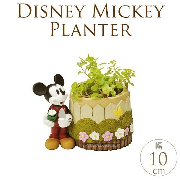 【SAS】日本限定 迪士尼 米奇 花器 小盆栽 / 筆筒 / 桌上收納桶