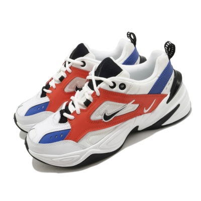 Nike 休閒鞋 M2K Tekno 運動 女鞋 復古 老爹鞋 舒適 皮革 簡約 穿搭 白 橘 AO3108101