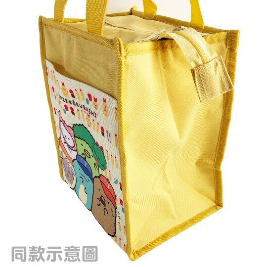 【領券折$30】小禮堂 角落生物 直式尼龍保冷便當袋 午餐袋 保冷提袋 保溫袋 野餐袋 (藍 吊床)