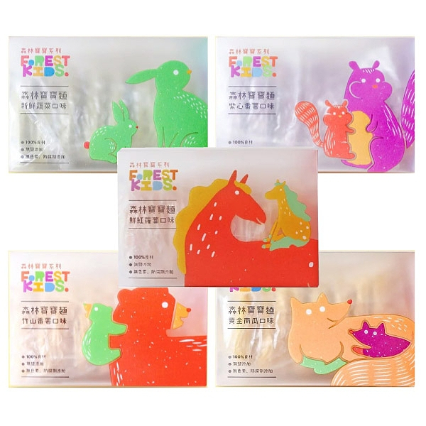 森林麵食 寶寶麵8入(5種可選)