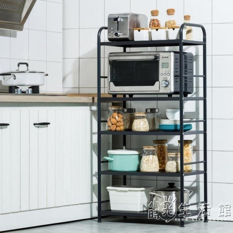 廚房微波爐置物架落地多層不銹鋼用品家用大全烤箱收納架子小推車WD