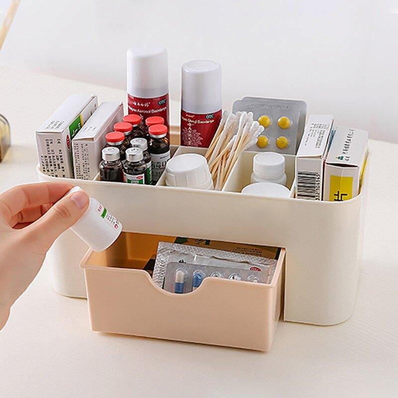 居家收納 置物架 多功能防塵掀蓋保養品收納盒 化妝品收納盒 香水 透明收納盒 多款收納組合 防水收納 收納