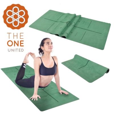 The One 專業防滑天然橡膠正位線麂皮絨加寬瑜珈墊 瑜珈毯鋪巾 1mm(兩色任選)