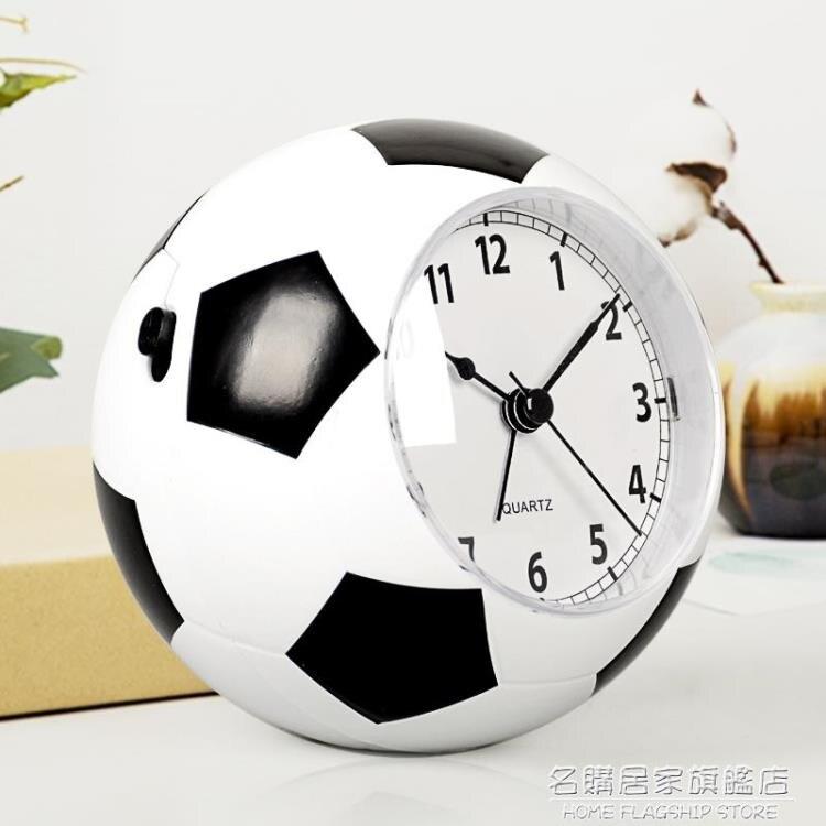 創意兒童鬧鐘學生男靜音床頭鐘卡通可愛個性鬧表簡約足球時鐘HA09