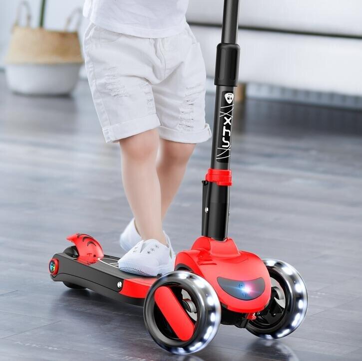 兒童滑板車1-2-3-6-11歲小孩三合一溜溜寶寶可坐可騎滑滑踏板車子