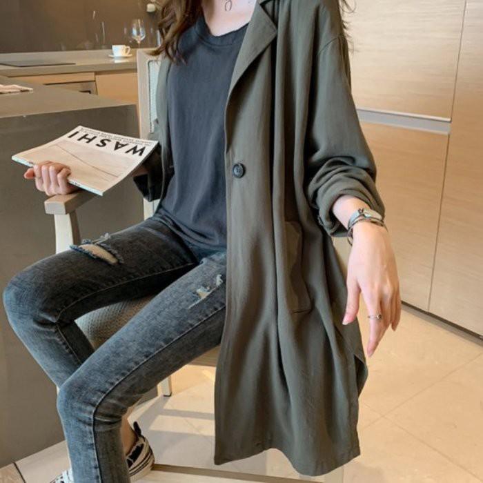 漂亮小媽咪韓系外套 【C0039】 休閒 孕婦裝 長外套 寬鬆 大衣