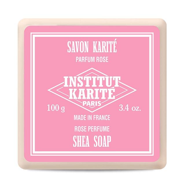 Institut Karite Paris 巴黎乳油木玫瑰皇后花園香氛手工皂 100g