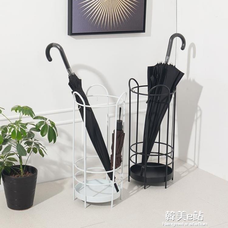 簡約現代雨傘架收納桶家用掛傘筒酒店大堂辦公樓門口鐵藝放傘架子 迎新年狂歡SALE