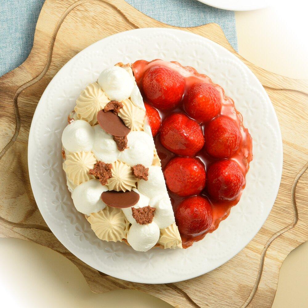 【亞尼克夢想村】歡樂鮮莓派+焦糖玫瑰鹽/6吋(滿50件送4)