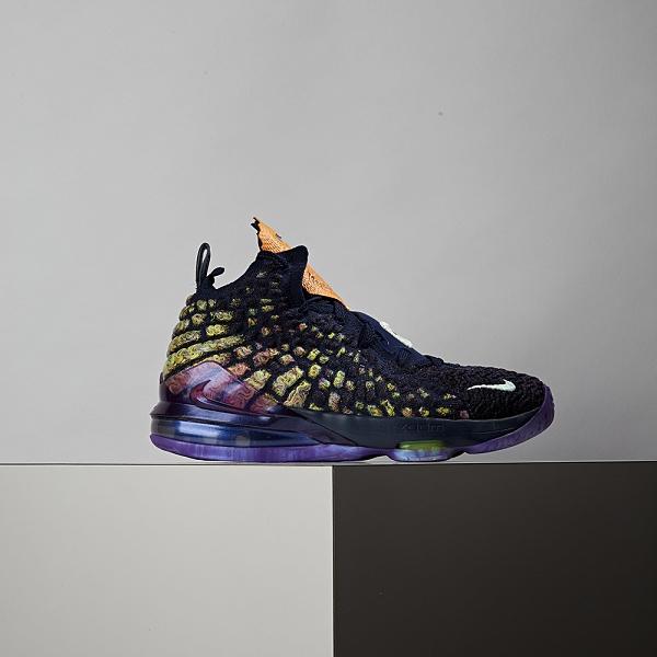 Nike Lebron XVII AS (GS) 女大童 黑紫 避震 包覆 運動 籃球鞋 CW1036-400