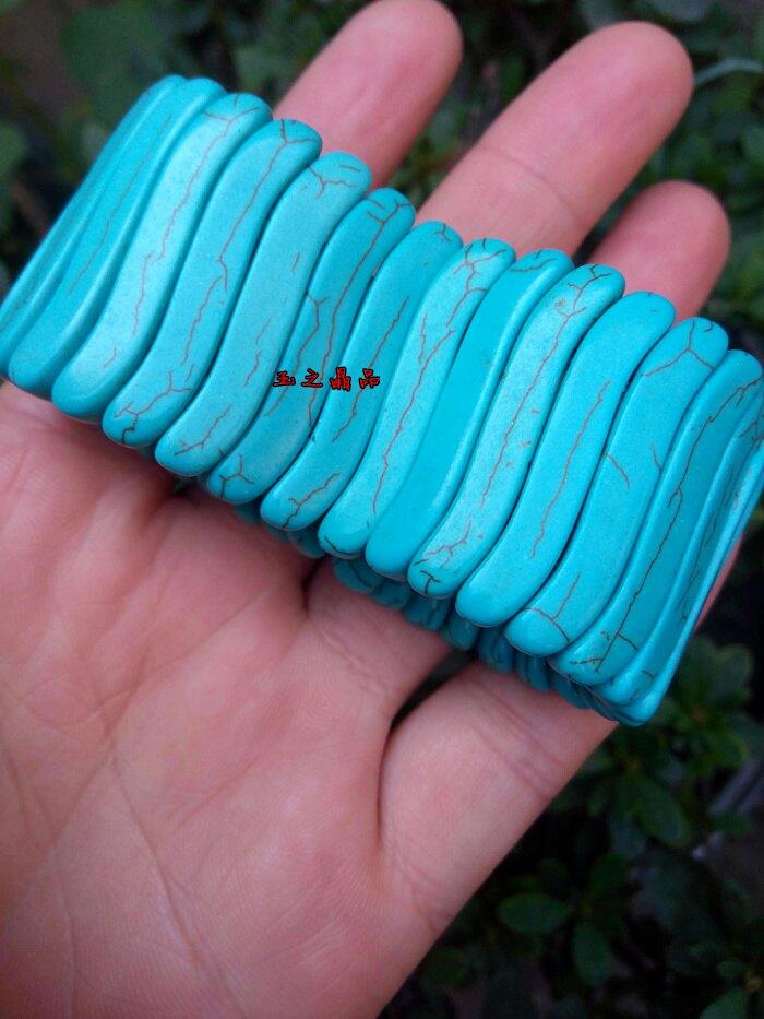 水晶綠松石S型手排手鏈1入