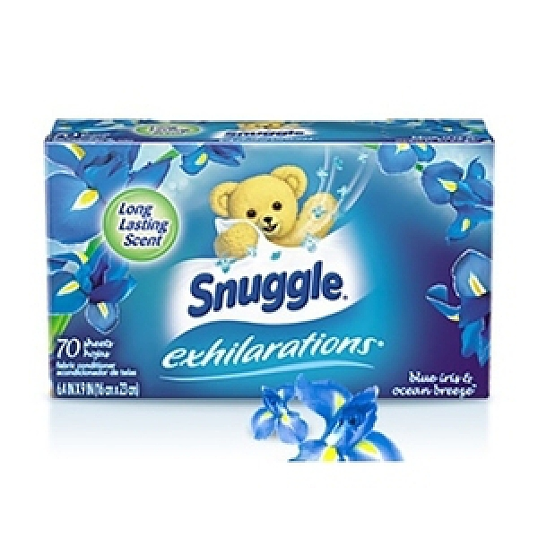 美國 Snuggle 烘乾機香衣片--鳶尾花+海風(70片*3盒)