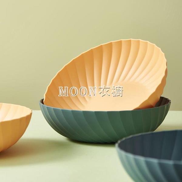 水果盤客廳家用北歐風干果盤現代簡約零食創意茶幾糖果瓜子盤網紅
