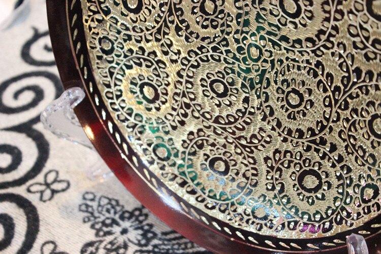 傳統手工藝品 銅雕漆彩雪蓮花工藝掛盤 廠家直銷1入