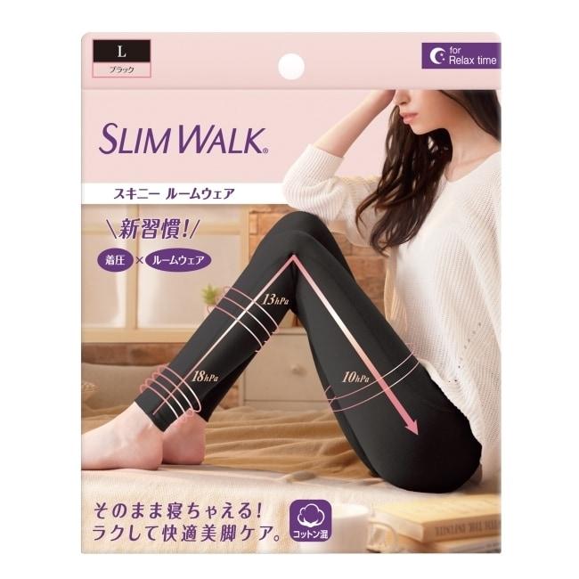 SLIMWALK居家美腿壓力褲L(黑色)L