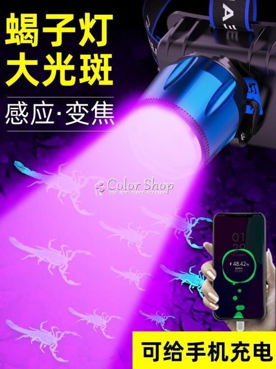 夯貨折扣!蠍子燈捕蠍專用強光頭燈戶外超亮紫光抓捉照蠍子鋰電池礦燈