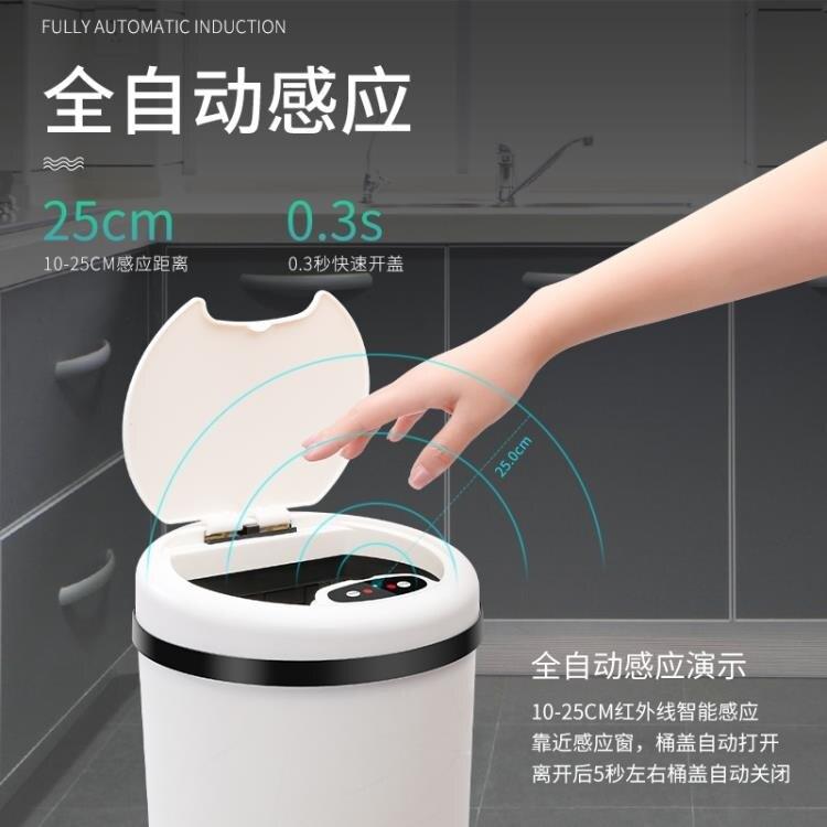 智慧垃圾桶 電動感應垃圾桶家用客廳臥室智慧帶蓋垃圾筒衛生間創意壓圈密封桶 mks宜品