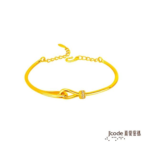 J'code真愛密碼金飾 緊扣最愛硬金手環-寶石款