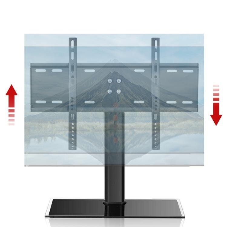 TCL專用液晶電視底座43 50 55 65英寸萬能免打孔桌面增高支架腳架 小明同學
