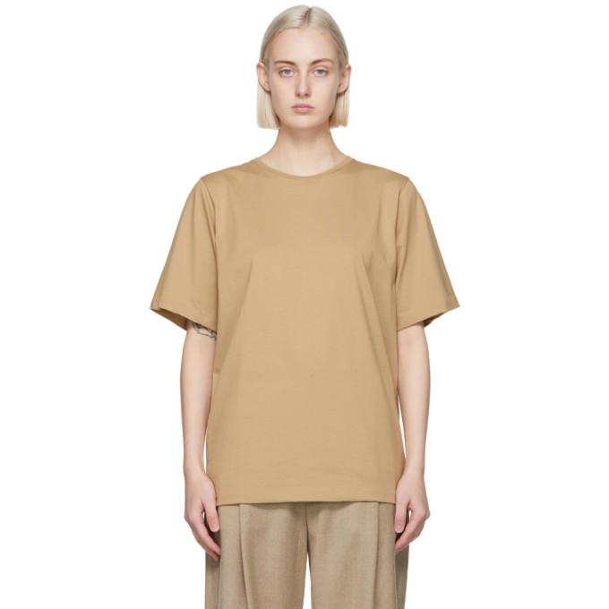 Toteme 驼色大廓形有机棉 T 恤